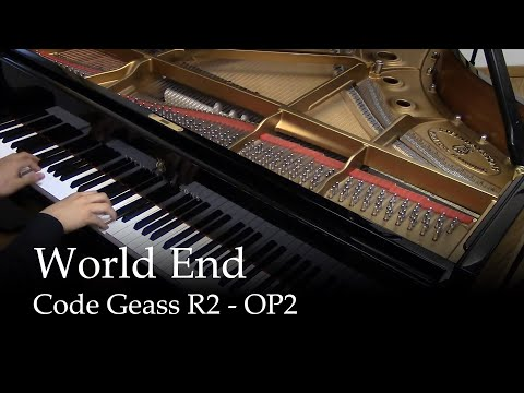 World End  Code Geass R2 OP 2 piano