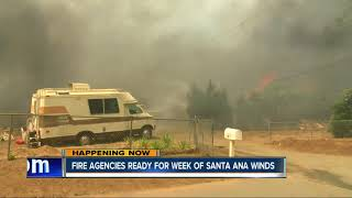 Fire agencies prepare for week of Santa Ana winds