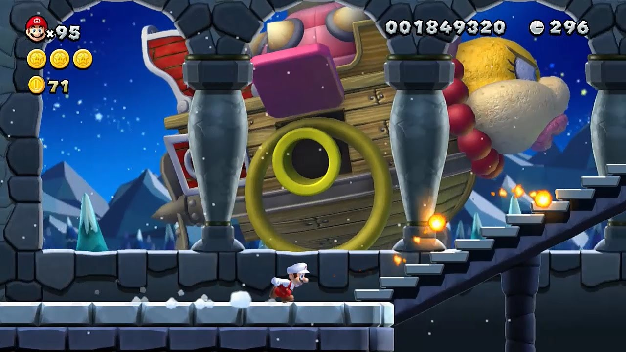 New Super Mario Bros U Walkthrough Part 4 World 4 Froster