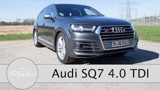 2017 Audi SQ7 4.0 TDI Test / SUV mit V8 Biturbo-Diesel-Hammer - Autophorie