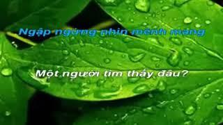 Karaoke Luân vũ ngày mưa ( tone nữ )