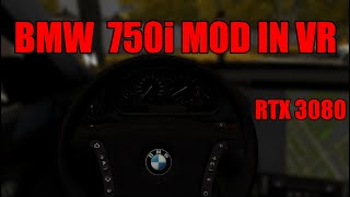 BMW 750i City Car Driving In VR (RTX 3080 & Rift S)