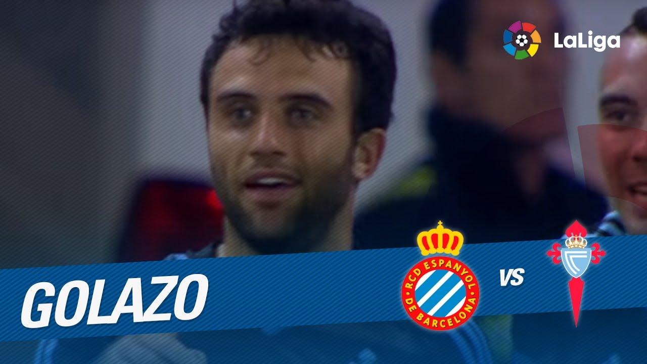 Goal of Golazo de Giuseppe Rossi 1 0 RCD Espanyol vs Celta de