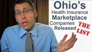 Ohio Health Insurance Marketplace Companies Released