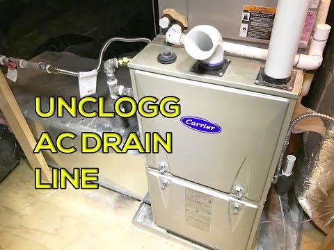 How to Unclog AC Drain Line  (Easy Way)