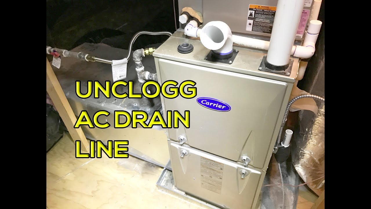 How To Unclog Ac Drain Line Easy Way Youtube