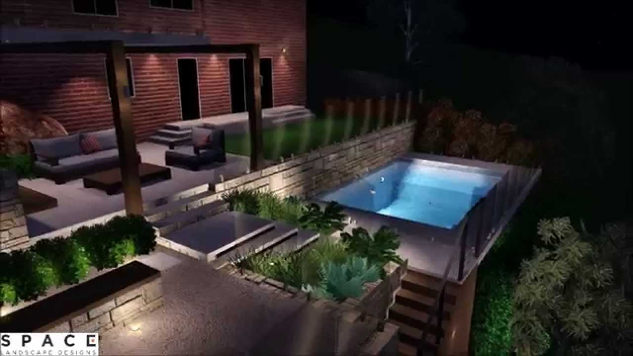 The Ultimate backyard on a steep site - YouTube