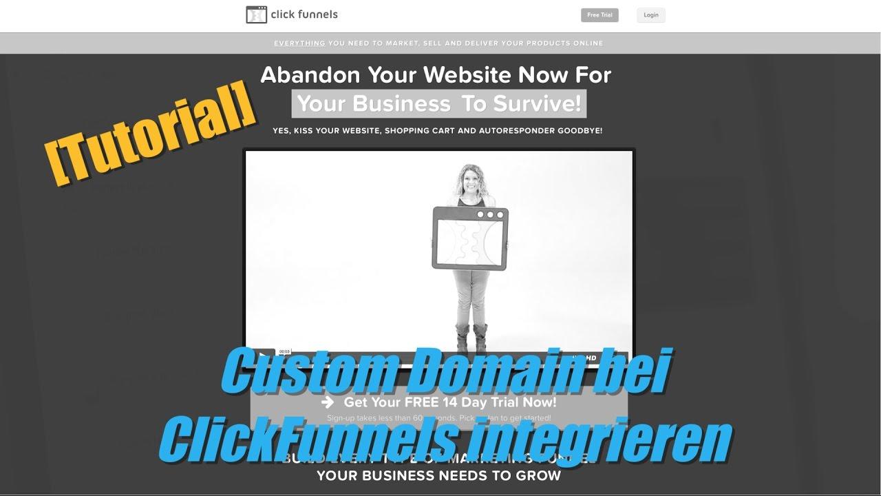 Custom Domain bei ClickFunnels integrieren | Sebastian Zehner