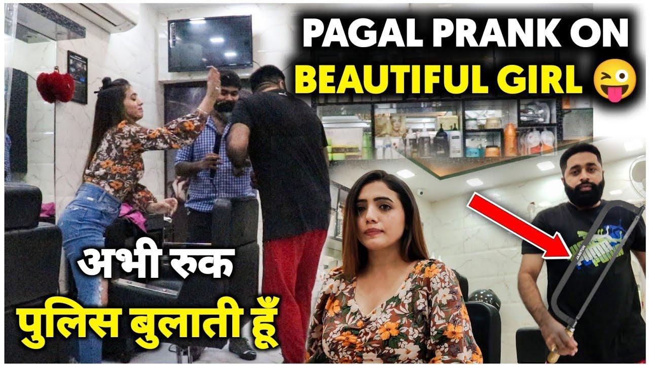 Barber Prank On Beautiful Girl | Sunny Arya | Tehelka Prank