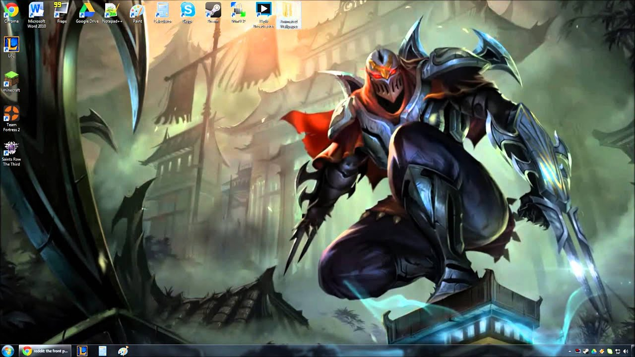 Dreamscene Girl Wallpaper Zed Animated Wallpaper Preview Youtube