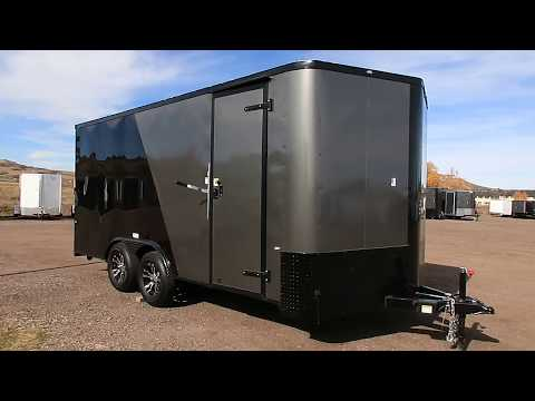 No more drag with this 8.5x18 smooth skin trailer with bogey wheels