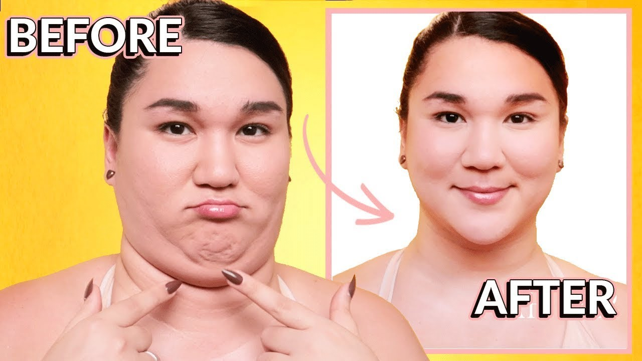 Contouring for Beginners⚡ How to Contour ROUND FACE. & DOUBLE CHIN (Easy  Plus Size Makeup)