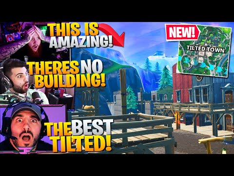 *NEW* TILTED TOWN IS INSANE! YOU CAN'T BUILD!? Ft. Nickmercs, Tim, HD (Fortnite Battle Royale)