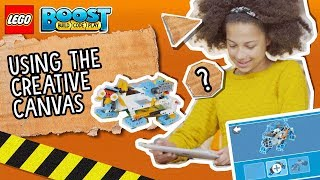 Using The Creative Canvas - LEGO BOOST - How To Video