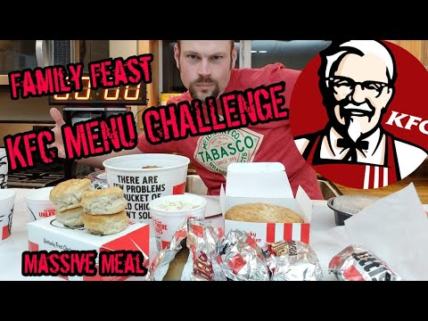 Out Of My CLUCKING Mind  KFC Menu Challenge  Massive