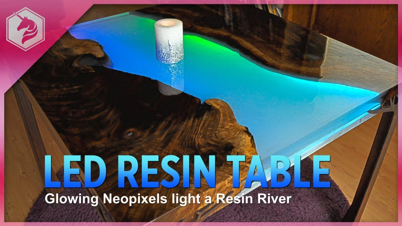 New Guide: Make a Glowing LED Resin River Table « Adafruit