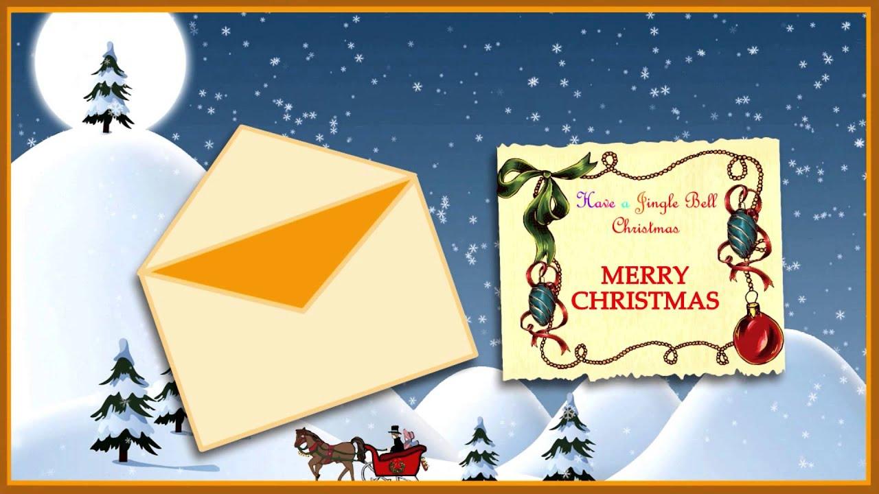 A Jingle Bell Christmas Animated Musical Free Ecard Youtube