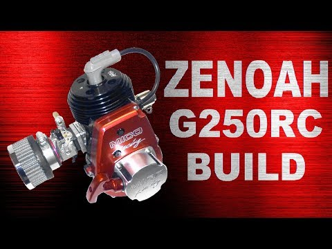 SLIDESHOW Engine Build: Zenoah G230RC to G250RC Custom RC Go-Ped Engine