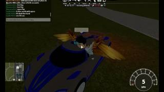 Vehicle Simulator: How to drive on walls with Insanity! (ROBLOX)