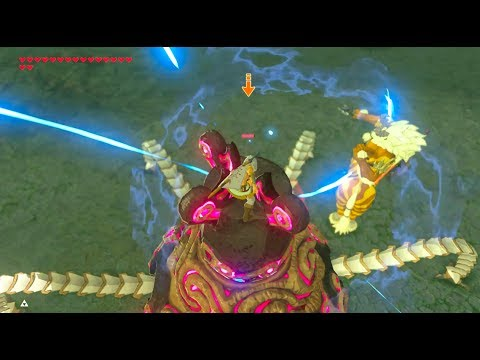 Zelda Breath of the Wild: Guardian meets Gold Lynel