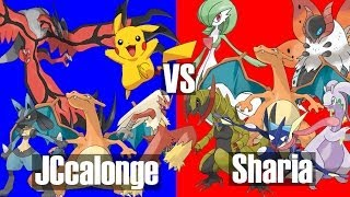 Best 2 out of 3 Pokemon Battle (JCcalonge vs Sharia) and Friend Codes