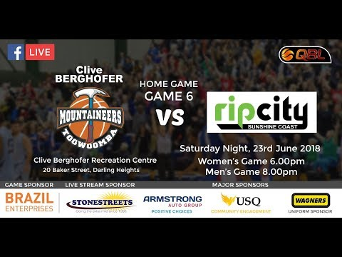 USQ QBL Home Game 6 - Toowoomba Mountaineers vs USC Rip City