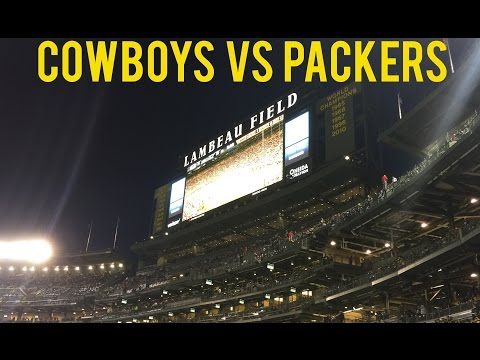COWBOYS VS PACKERS 2016 LAMBEAU FIELD