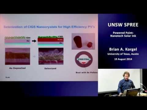 UNSW SPREE 201408-19 Brian Korgel - Powered Paint - Nanotech Solar Ink