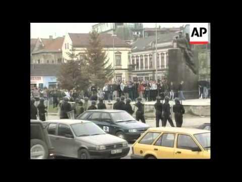 BOSNIA: BRCKO: STUDENTS PROTEST