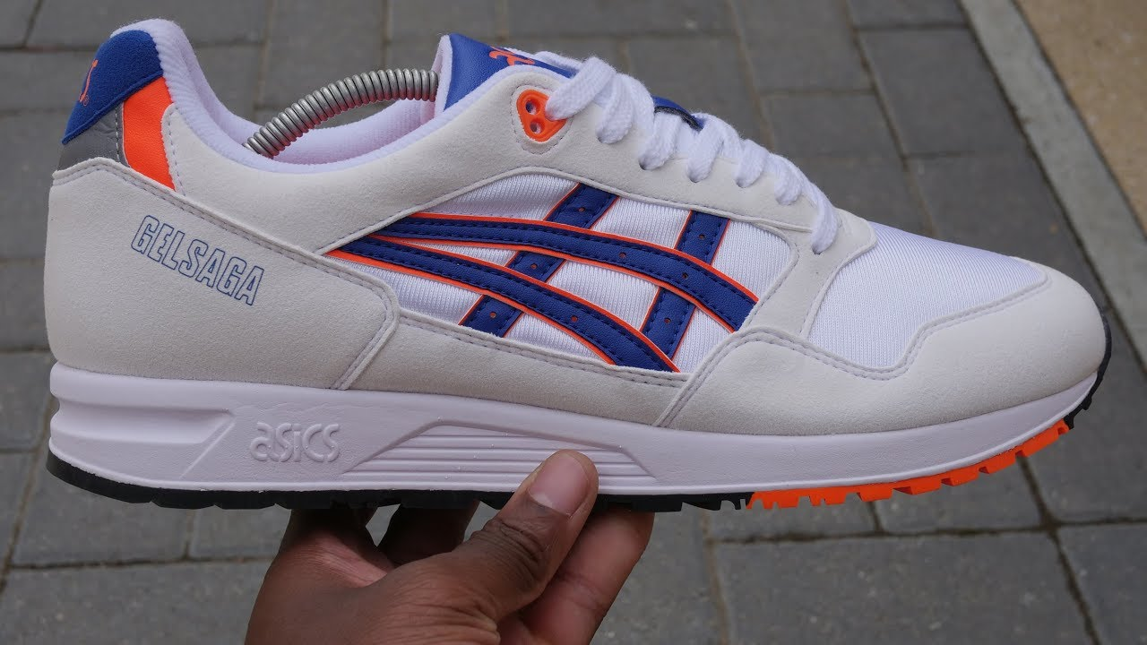 big sale 3a985 14fbc Asics Gel Saga OG Quick Look & On Feet (White/Asics Blue)