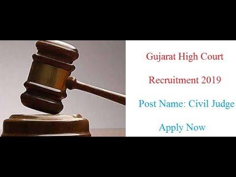 Gujarat High Court Civil Judge Recruitment 2019