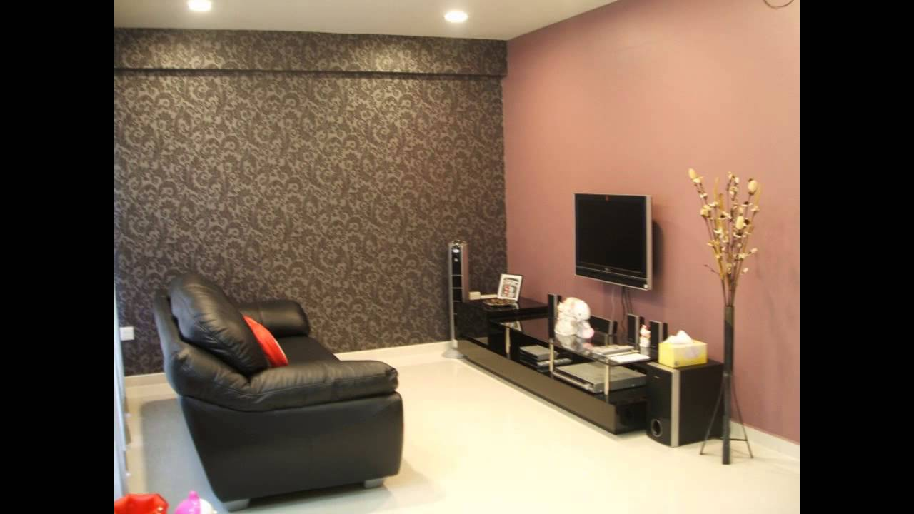 Choosing wallpaper decor ideas for living room youtube for Wallpaper living room ideas