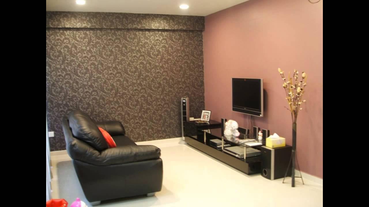Choosing Wallpaper decor ideas for living room - YouTube