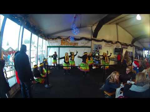 Barefoot Hawaiian Dance Performance at Christkindlmarket Naperville