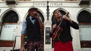 Volare in front of Teatro Italia - Venice, Italy