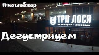 """""""Три лося"""" дегустируем новый ресторан-пивоварня в Новосибирске.#нашобзор"""