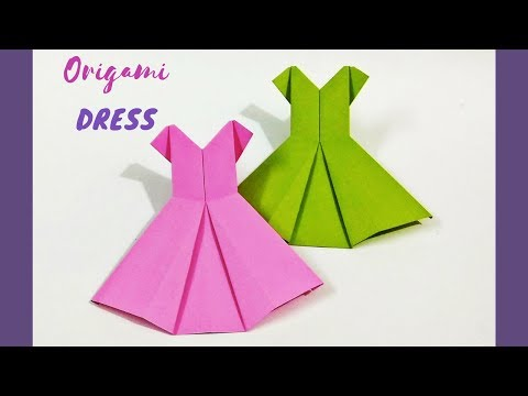 DIY: Origami Dress | How to Make a Paper Dress | Origami Clothes | Craftastic