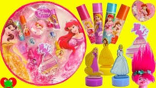 Disney Princess Cosmetics Set Lip Balms and Surprises