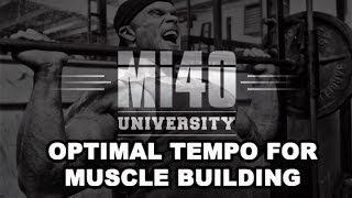 Ben Pakulski Training Tempo for Muscle Building MI40 Muscle University