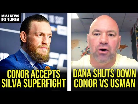 Conor McGregor Accepts Anderson Silva Superfight At 176 Lbs, Dana On Usman Vs Conor, Colby, MMA News