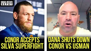 Conor McGregor accepts Anderson Silva superfight at 176 lbs, Dana on Usman vs Conor, Colby, MMA News