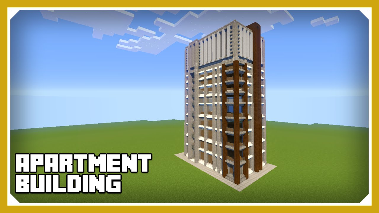 Minecraft How To Build An Apartment Building Complex Tutorial Easy Survival