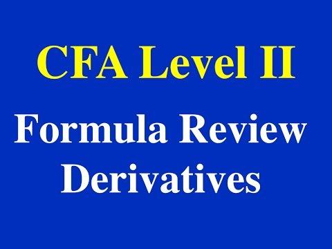 2015- CFA L2- Formula Review- Derivatives - Part I (of 3)