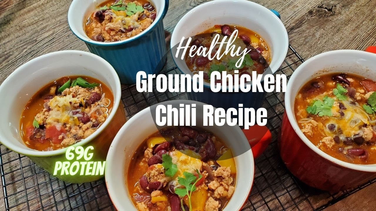 Healthy Ground Chicken Chili Recipe Meal Prep For The Week