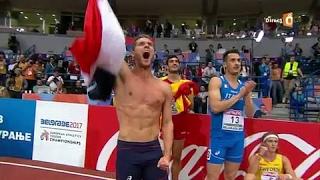 Athlétisme : le 1000 m de Kevin Mayer, sacré champion d'Europe en salle d'heptathlon