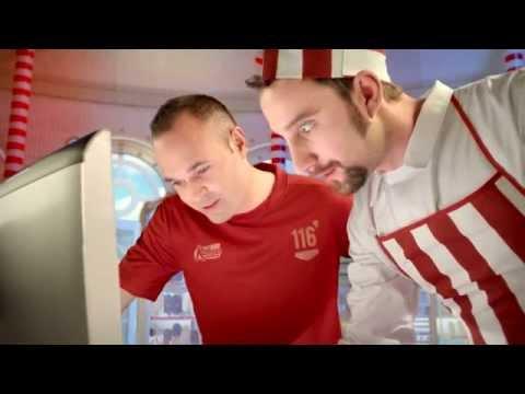 Andrés Iniesta y Dani Rovira: Creación del helado 'Minuto 116' de Kalise