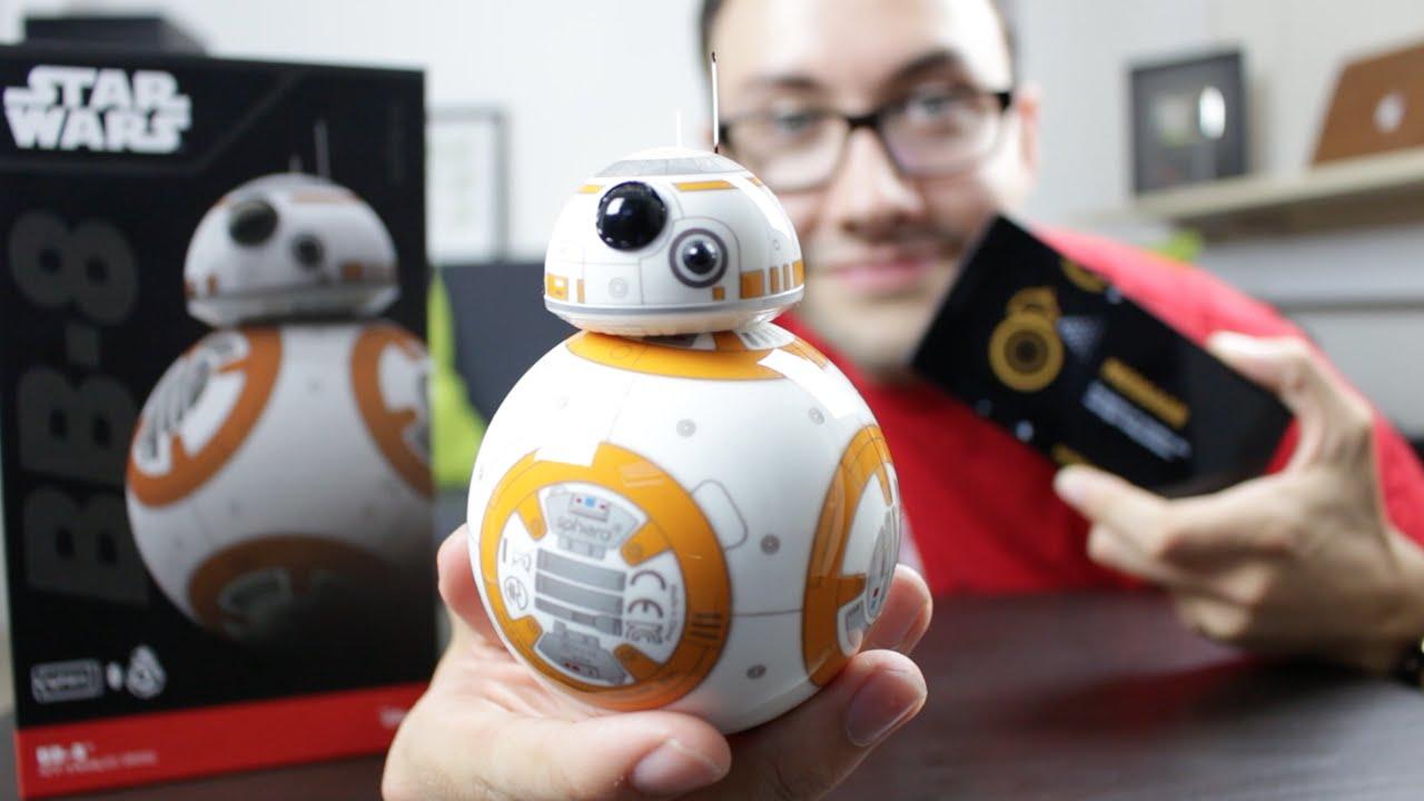 Test droid bb 8 star wars 7 contr ler avec son smartphone sphero youtube - Robot blanc star wars ...