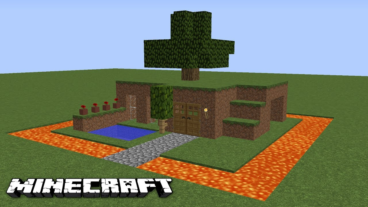 minecraft how to build a dirt house 100 mob proof youtube. Black Bedroom Furniture Sets. Home Design Ideas