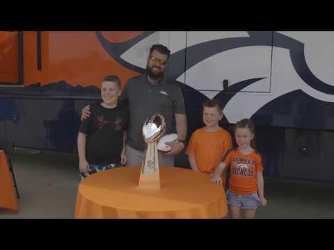 Broncos Fan Event at Lazydays RV Dealership