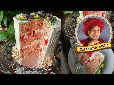 How to Make a Cherry Cake From Scratch - Maraschino Cherry Cake
